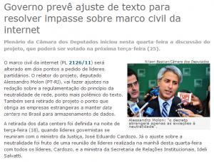 Captao do site do parlamento brasileiro