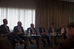 Carlos Leite (HP), Rui Rodrigues (Bial), Pedro Enes (EDP), Paulo Guedes  (ESI) Joao Dolores, Fernando Resina da Silva (VDA)_ IDC Cloud Leadership Forum_2464