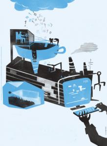 Digital Games Lab_IPCA_Ilustracao de Tiago Lourenco para o jornal do IPCA