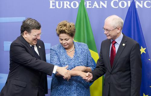 Barroso, Rousseff, van Rompuy - Conselho da UE