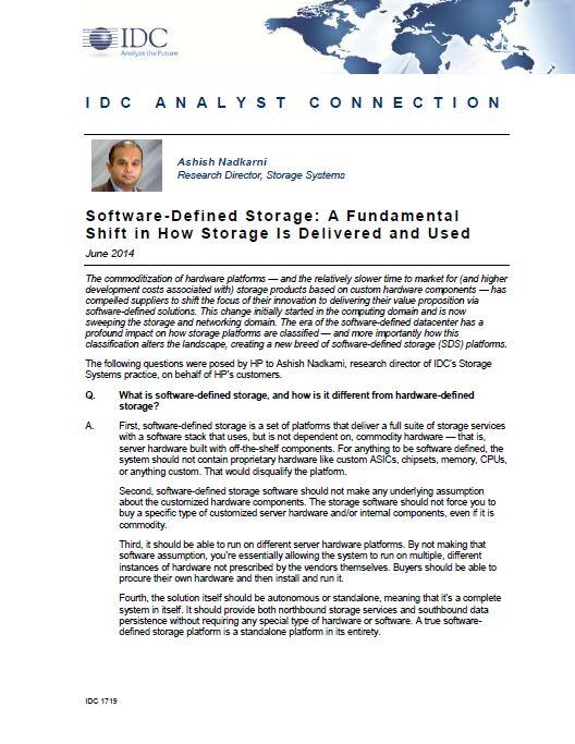 SDS A Fundamental Shift