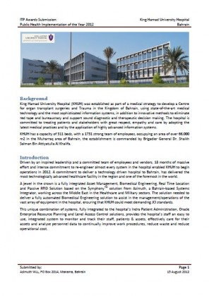 Case Study Hospital Bahrain