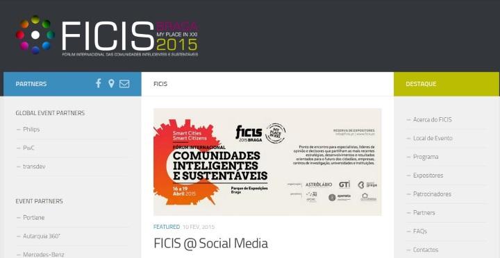 Site do FICIS 2015