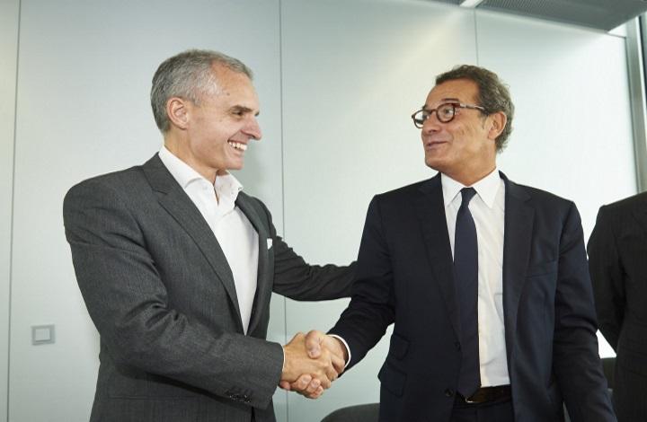 João Couto (Microsoft) e António Mexia (EDP)