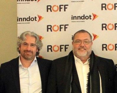 Enrique  Abascal , CEO da Inndot, e Francisco Febrero, CEO da ROFF